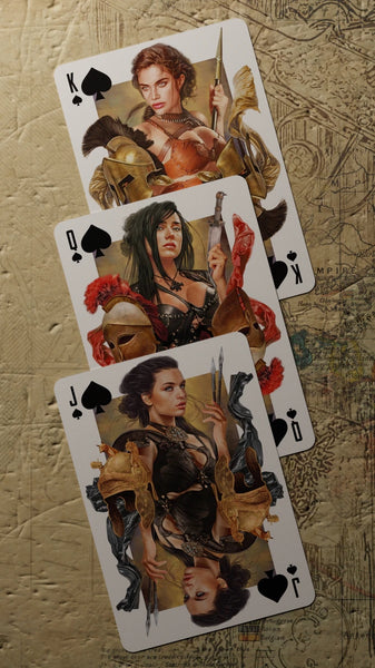 Amazons Spartans Playing Cards Ephebes Red Edition All Female Courts