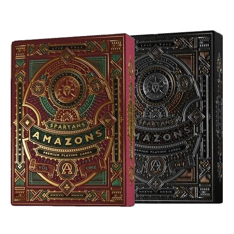 Amazons Spartans Playing Cards Red & Black Editions 2-Decks Set