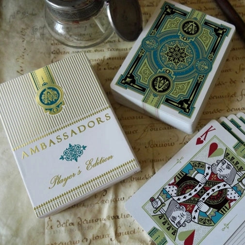 Ambassadors Green Limited Edition Playing Cards by Lotrek