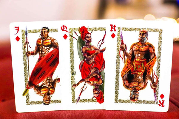 Ancient Warriors Playing Cards Red Limited Edition deck