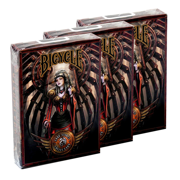 Anne Stokes Steampunk Playing Cards Magic Fantasy ~ 3 Deck Collectors Set