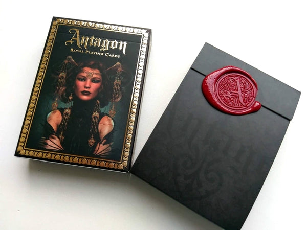 Antagon Playing Cards Red Wax Sealed Limited Edition Designed in Italy