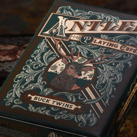 Antler Playing Cards Hunting Green Buck Twins Deck by Dan & Dave Brand New
