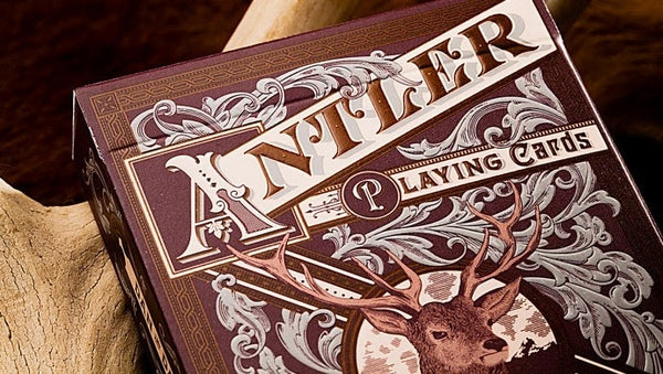 Buyworthy:Antler Playing Cards Deep Maroon Buck Twins Deck by Dan & Dave New