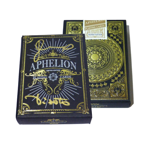 Aphelion Playing Cards Black & Gold Signed Edition Rare Numbered 11 of 20