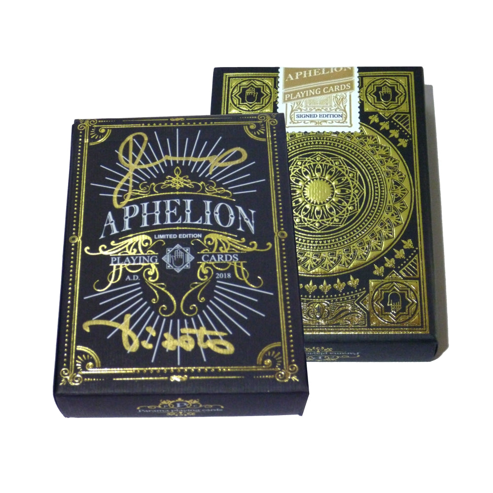 Aphelion Playing Cards Black & Gold Signed Edition Rare Numbered 15 of 20