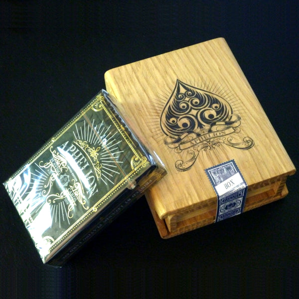 Aphelion Playing Cards Black Edition Italian Oak Rare Wood Collectors Box