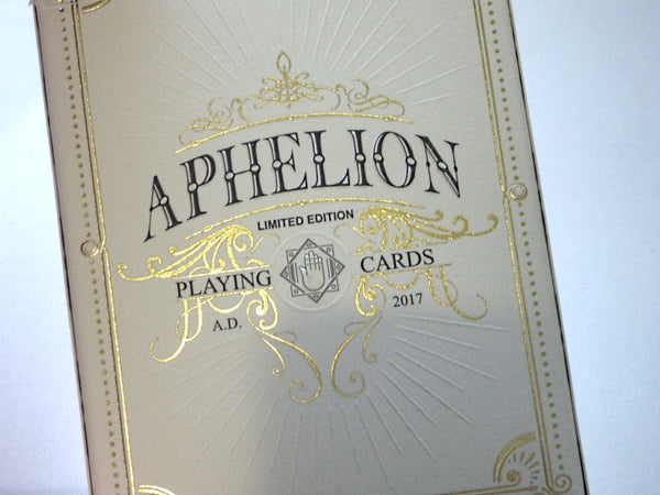 Aphelion Playing Cards Italian Oak Rare Wood Collectors Box #39