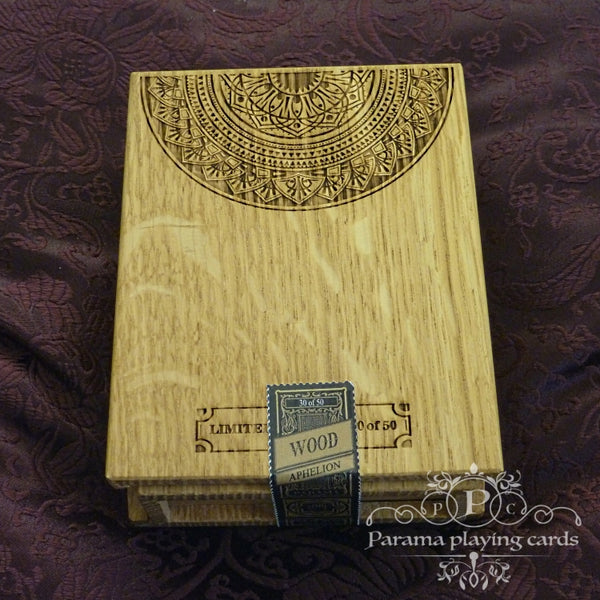 Aphelion Playing Cards Italian Oak Rare Wood Collectors Box #26