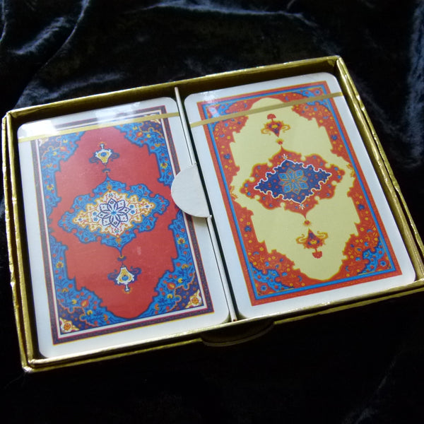 Arab Piatnik Vintage Playing Cards Rare ~ 2 Deck Set No. 2141