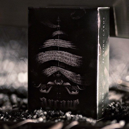 Arcane Mini Playing Cards Deck Black Edition Ellusionist Gift