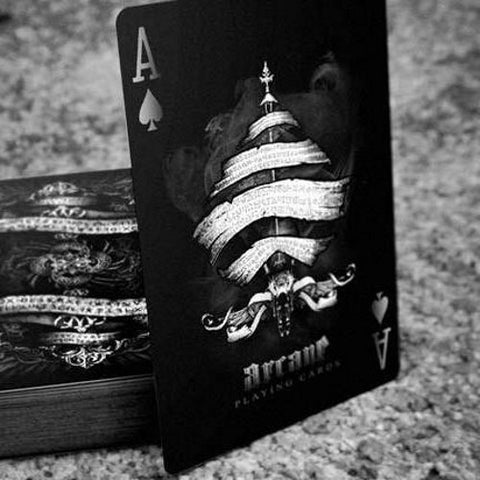 Arcane Playing Cards Black Edition Magic Poker Deck Ellusionist