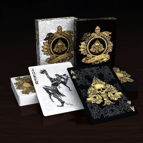 Arcanum Playing Cards Black & White Magic ~ 2 Decks Set