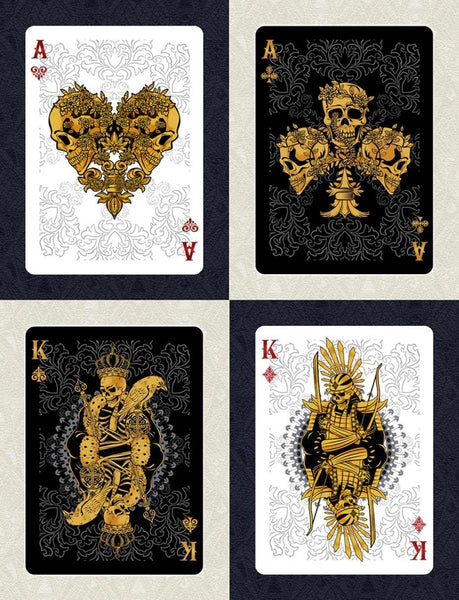 Buyworthy:Arcanum Playing Cards Black & White Magic Poker Decks Made in USA ~ 2 Deck Set