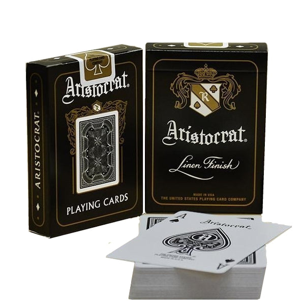 Aristocrat Playing Cards Black LTD Edition Linen Finish 2 Decks