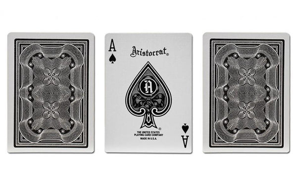 Aristocrat Playing Cards Black Limited Edition Linen Finish Magic