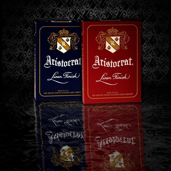 Aristocrat Playing Cards Blue & Red Premium Linen Finish 2-Decks