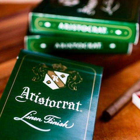 Aristocrat Green Playing Cards Premium Linen Finish Art of Play Deck