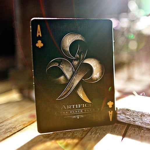 ARTIFICE Gold Playing Cards Rare Deck The Black Club Edition