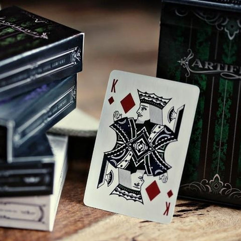 Green Artifice Playing Cards ~ Mini Deck ~ Poker Magic Ellusionist Brand New