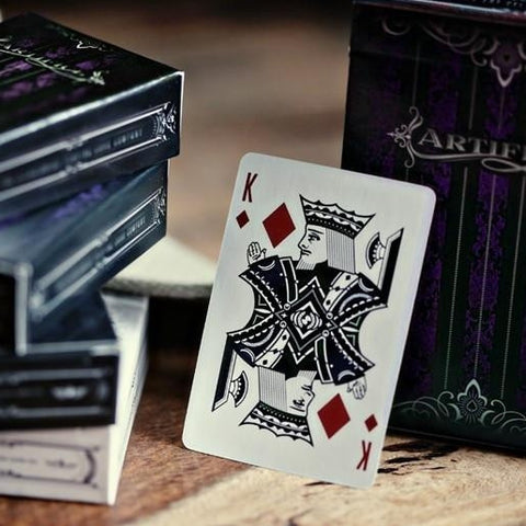 Purple Artifice Playing Cards ~ Mini Deck ~ Poker Magic Ellusionist Brand New