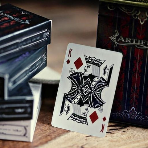 Red Artifice Playing Cards ~ Mini Deck ~ Rare Poker Magic Ellusionist Brand New