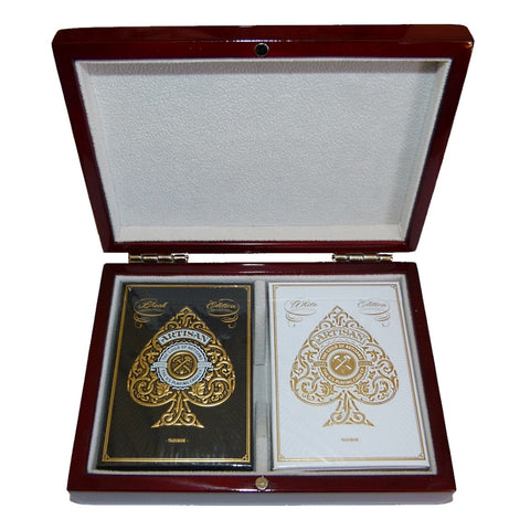 Artisans Theory11 Artisan Gold Playing Cards Decks Wooden Box Collectors Set