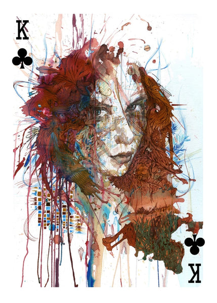 Artist Playing Cards Ink Tea and Alcohol art designed in London