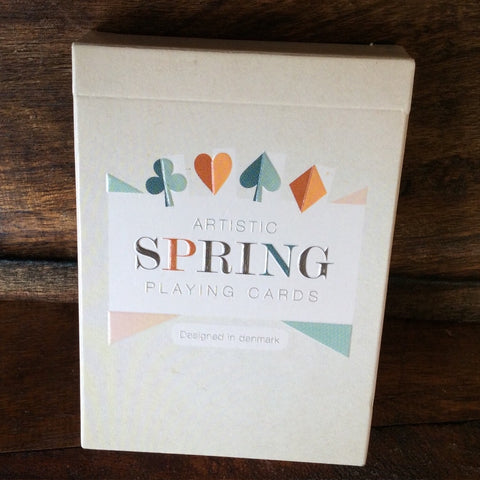 Artistic Spring Playing Cards Rare Embossed tuck Designed in Denmark