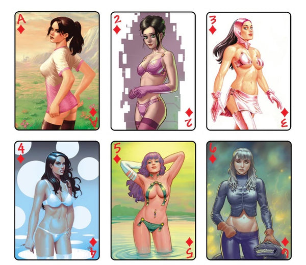 Atilio Gambedotti Playing Cards Retro Pin-up deck by Top Secret Press