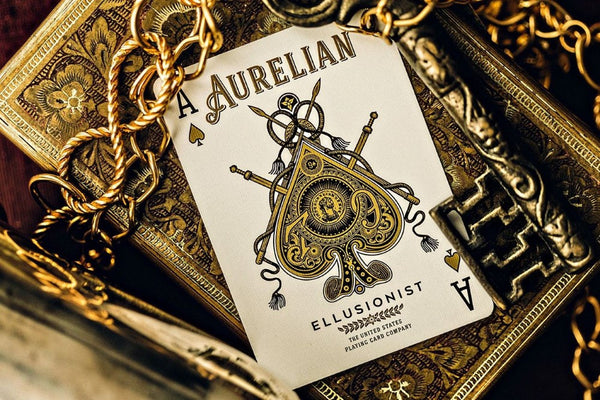 Buyworthy:Aurelian Roman Playing Cards Premium Deck Gold-Standard Stock Embossed Case Rare
