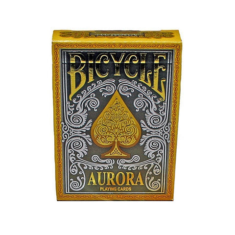 Aurora Playing Cards Gold Foil Embossed Metallic Ink Rare