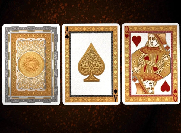 Buyworthy:AURORA Playing Cards Gold Foil Embossed Case Metallic Ink Decks Luxury Rare
