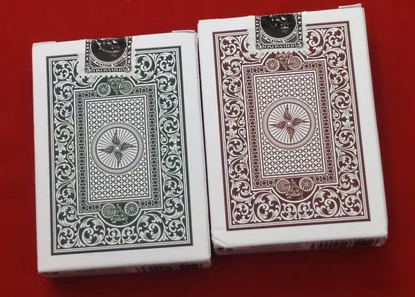 Buyworthy:Autobike Playing Cards Green and Brown Edition Made in USA ~ 2 Decks Set
