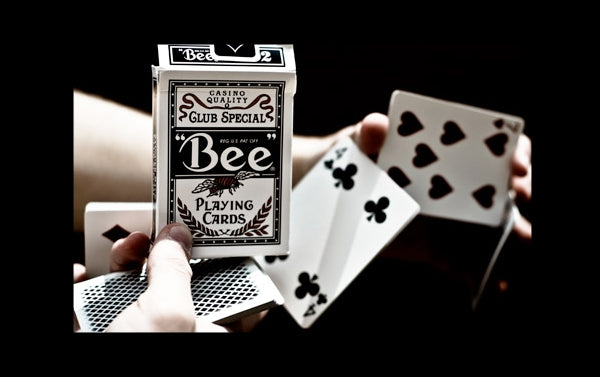 Bee Stingers Playing Cards Club Special Rare Black Printed in Ohio USA 2009