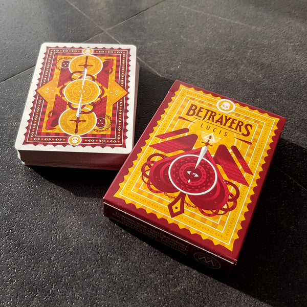 Betrayers Playing Cards by Thirdway Italy Rare Veritas Tenebra Lucis 3-Deck Set