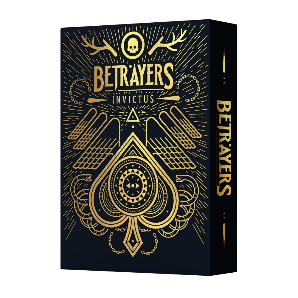 Betrayers Invictus Playing Cards Thirdway Rare Gold Foil Limited Edition #1273