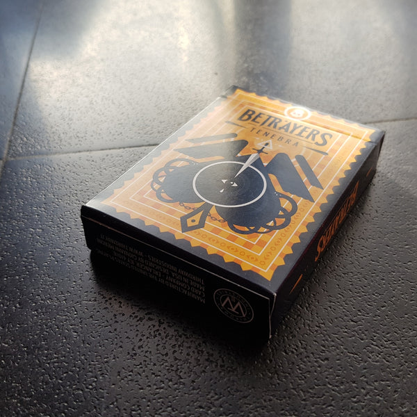 Betrayers Playing Cards Tenebra Edition by Thirdway Italy