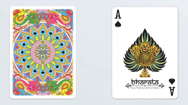 Bharata Playing Cards Rare Indian Holographic Gold Gilded
