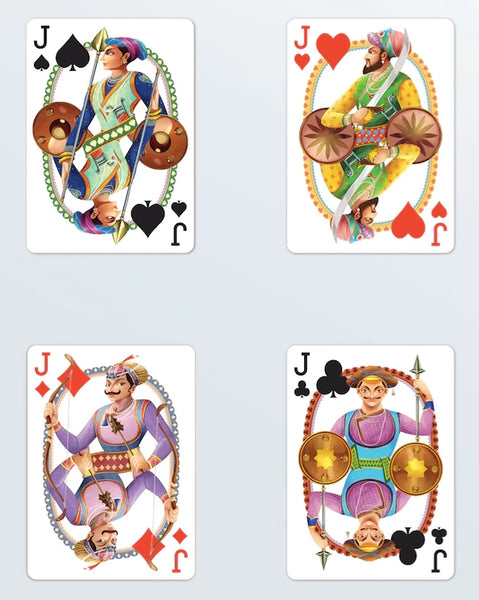 Bharata Playing Cards Series 2 Designed in Australia Indian Fold Art