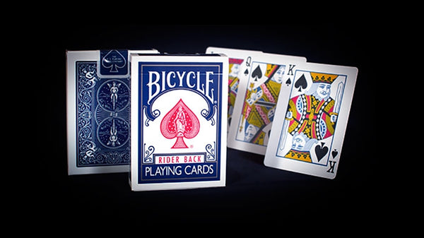 Bicycle Rider Back Playing Cards Blue Edition by USPCC