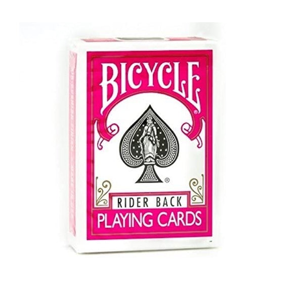 Bicycle Rider Back Playing Cards Pink Edition by USPCC