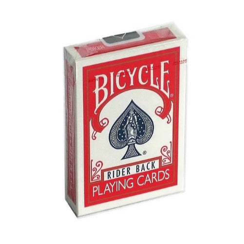 Bicycle Rider Back Playing Cards Red Edition by USPCC