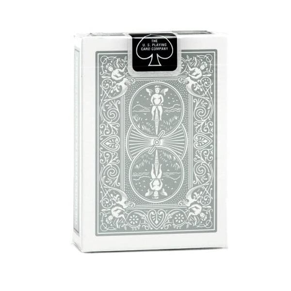 Bicycle Rider Back Playing Cards Silver Edition by USPCC