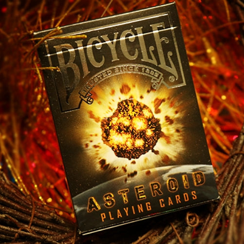 Bicycle Asteroid Playing Cards Embossed Silver Foil tuck