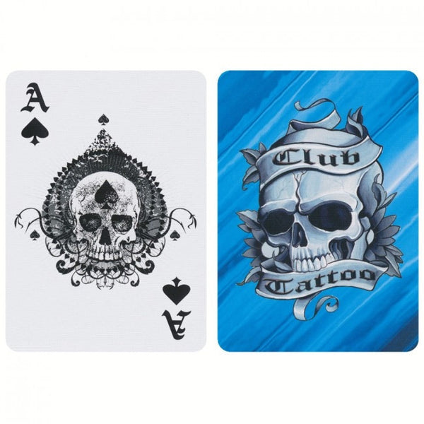 Buyworthy:Club Tattoo Playing Cards Black Yellow Blue Editions Made in USA ~ 3 Decks Set