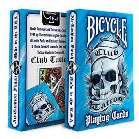 Club Tattoo Blue Playing Cards Premium Artwork Poker Magic
