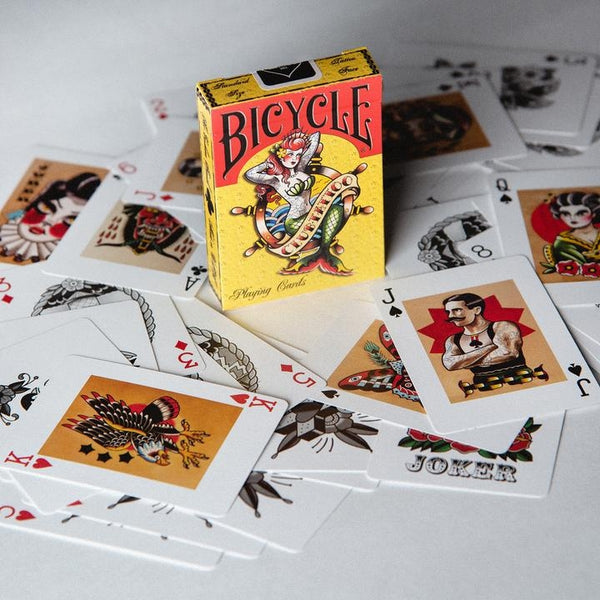 Bicycle Mermaid Club Tattoo Playing Cards New Edition Made in USA