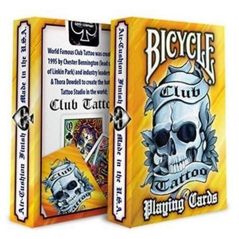 Club Tattoo Yellow Playing Cards Premium Artwork Deck