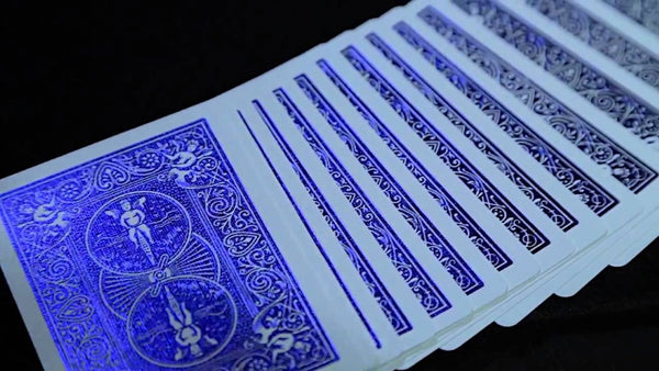 Cobalt LUXE Playing Cards Metal FOIL Bicycle Rider Back Premium
